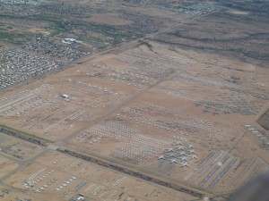 "The AMARG or 309th Aerospace Maintenance and Regeneration Group or  commonly referred to as ""the Boneyard""."